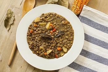 Lentil and vegetables